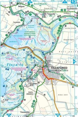 Frigoria Tisza-tó, Hortobágy kerékpáros térkép és vízitúra-kalauz 2019