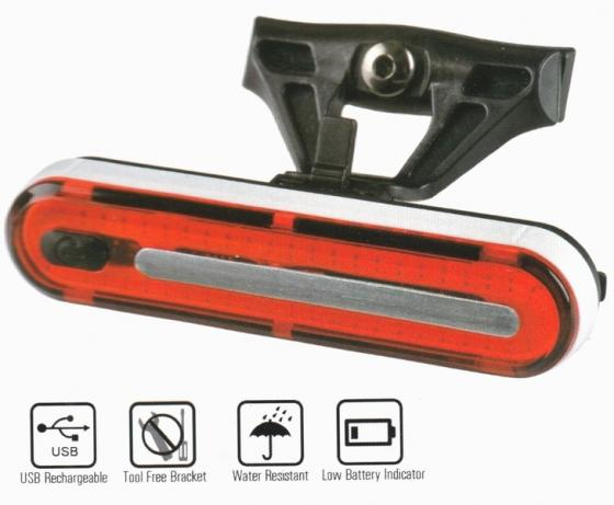 Velotech 50Chipled USB kerékpár hátsó lámpa 2019