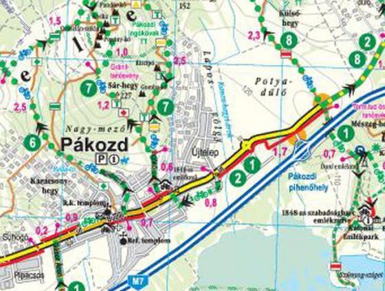 Frigoria Velencei-tó és térsége kerékpáros térkép 2019