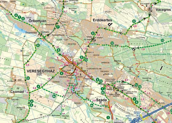 Frigoria Gödöllői-dombság kerékpáros térkép 2019