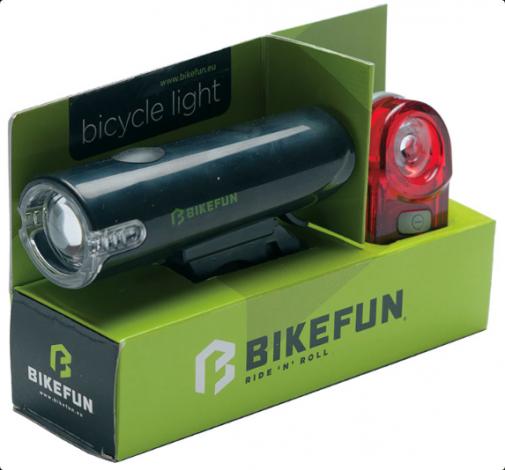 Bikefun Twin kerékpár lámpa szett 2019