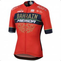Merida Bahrain Team Bodyfit (2018) végig cipzáros rövid ujjú mez 2019