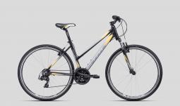 CTM Maxima 1.0 szürke-sárga női cross trekking kerékpár 2020