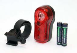 Spyral System 0,5W 3 LED kerékpár hátsó lámpa elemekkel 2019