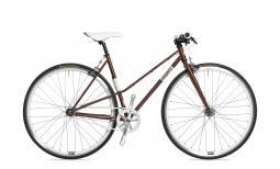 Csepel Royal 3* Lady női barna fixi kerékpár 2020