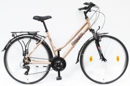 Csepel Traction 100 barna női túratrekking kerékpár 2020