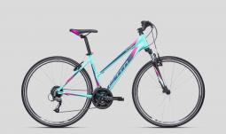 CTM Bora 1.0 kék-pink női cross trekking kerékpár 2020