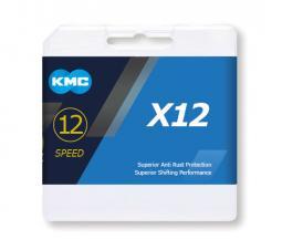 KMC X12 Silver 1/2x11/128 126L 12 sebességes kerékpár lánc 2020