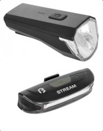 Bikefun Stream USB E+H lámpa szett 2018