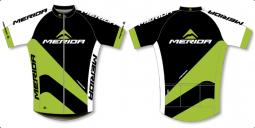 Merida Sport1 zöld-fekete végig cipzáros rövid ujjú mez 2018