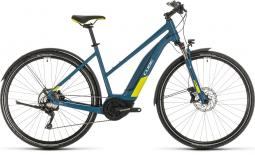 Cube Cross Hybrid EXC 500 Allroad kék női cross trekking e-bike 2020