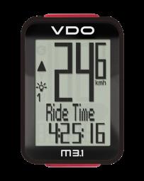 VDO M3.1 WL Kerékpáros Computer Vezeték Nélküli Pedál Fordulat Opcióval 2017