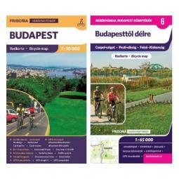 Frigoria Budapest kerékpáros térkép + Budapesttől délre kerékpáros térkép  2019