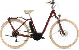 Cube Ella Ride Hybrid 500 női bordó city e-bike 2020