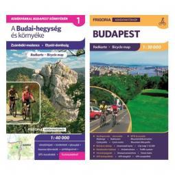 Frigoria Budai-hegység kerékpáros térkép + Budapest kerékpáros térkép 2019