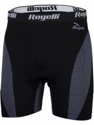 Rogelli fekete-szürke betétes boxeralsó, lycra rövidnadrág (testhezálló) 2018