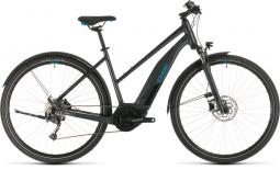 Cube Cross Hybrid One 400 Allroad sötétszürke női cross trekking e-bike 2020