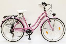 Csepel Cruiser Neo 7SP rózsaszín női cruiser kerékpár 2020