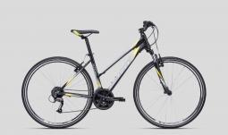 CTM Bora 1.0 szürke-sárga női cross trekking kerékpár 2020