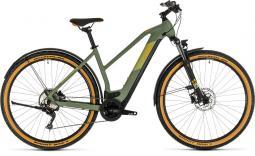 Cube Cross Hybrid Pro 625 Allroad zöld női cross trekking e-bike 2020
