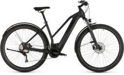 Cube Cross Hybrid Pro 625 Allroad sötétszürke női cross trekking e-bike 2020