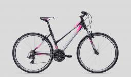 CTM Maxima 1.0 szürke-pink női cross trekking kerékpár 2020