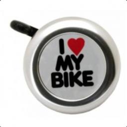 Bikefun I love ezüst kerékpár csengő 2018