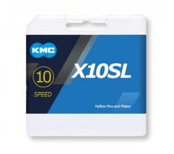 KMC X10SL ezüst 1/2x1/128 112L 10 sebességes kerékpár lánc 2020