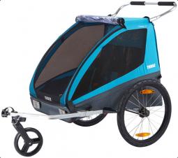 Thule Coaster XT utánfutó kerékpár szett + sétálókerék kék 2018