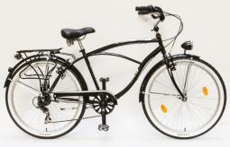 Csepel Cruiser Neo 7SP fekete cruiser kerékpár 2020