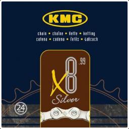 KMC X8 Silver kerékpár lánc 2018