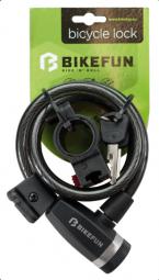 Bikefun Scutum 10x1200 spirál kerékpár zár 2018