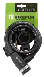 Bikefun Scutum 10x1800 spirál kerékpár zár 2018