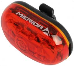 Merida 1759 5LED, 4 funkció, fekete kerékpár hátsó lámpa 2018