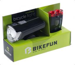 Bikefun Ray 1+2 LED USB kerékpár lámpa szett 2018
