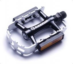 Bikefun Mountainer-II MTB ezüst-fekete alumínium pedál 2018