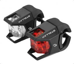 Bikefun Stellar E+H fekete kerékpár lámpa szett 2019