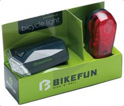 Bikefun Square E+H 4+3 LED kerékpár lámpa szett 2019