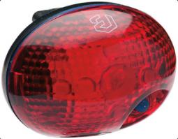 Bikefun Dinky 1 piros LED, 2 funkciós kerékpár hátsó lámpa 2019