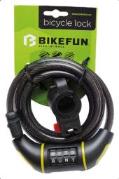 Bikefun Riddle 10x1800 4 kódos sodrony kerékpár zár 2019