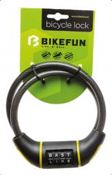 Bikefun Riddle 10x800 4 kódos sodrony kerékpár zár 2019