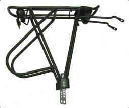 Bikefun Multitrack Alu 24-28 fekete állítható kerékpár hátsó csomagtartó 2019