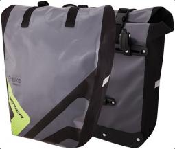 Merida szürke/zöld,kétrészes, (44x33x10 cm) vízálló (párban kapható) túra/csomagtartótáska 2019