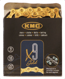 KMC X9 9 sebességes kerékpár lánc 2019