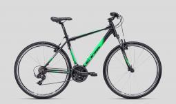 CTM Twister 1.0 fekete-zöld cross trekking kerékpár 2020