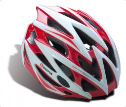 Bikefun Edge piros-fehér MTB/országúti bukósisak 2018