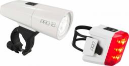 Cube RFR Pro 18 fehér kerékpár lámpa szett 2019