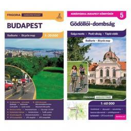 Frigoria Gödöllői-dombság kerékpáros térkép + Budapest kerékpáros térkép 2019