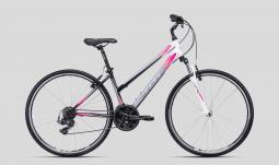CTM Jessie fehér-pink női cross trekking kerékpár 2020