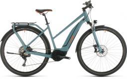 Cube Touring Hybrid EXC 500 kék női túratrekking e-bike 2020